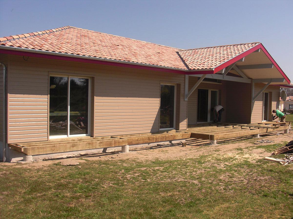 Maisons Ossature Bois - Cazaillon Charpente - Landes Dax Pouillon